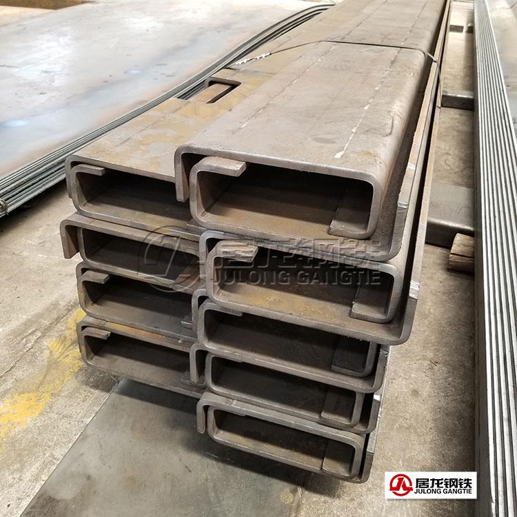 专用车高强板车架梁折弯加工,材质为高强板700