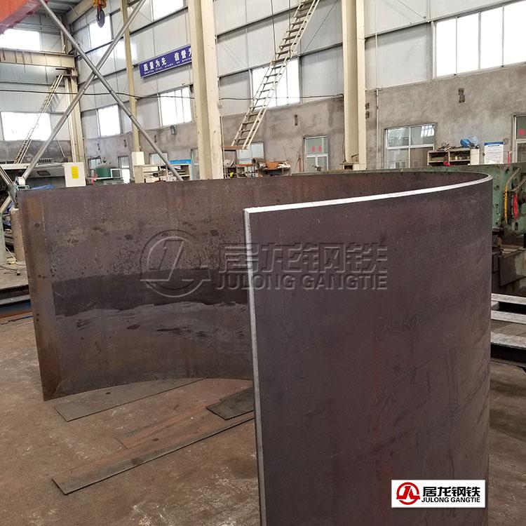 钢板铣边卷弧加工,应用于脱硫脱硝塔施工建设中。