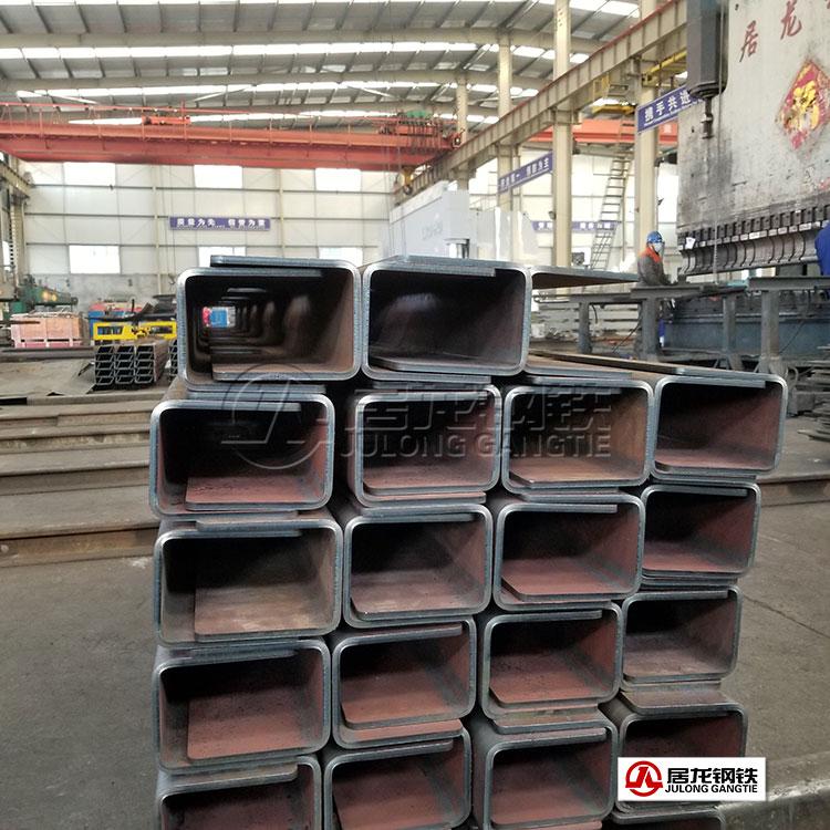 70吨矿车车箱底架梁折弯加工